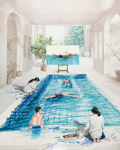 Bae Joon Sung, 'The Costume of Painter - at the studio-swimming field 1', 2020