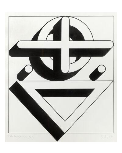 Imre Bak, 'Circle-Cross-Triangle', 1977