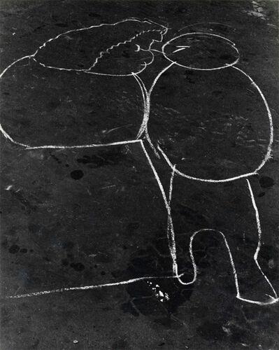 Helen Levitt, 'N.Y.C. (graffiti - face to face)', ca. 1939
