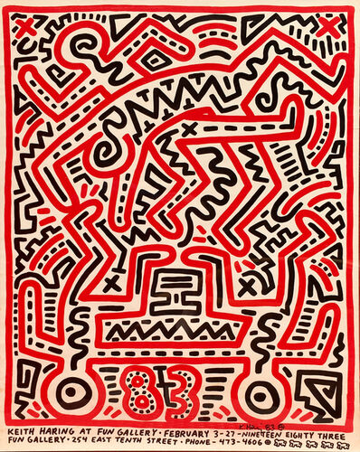 Keith Haring, 'Fun Gallery Exhibition Announcement', 1983