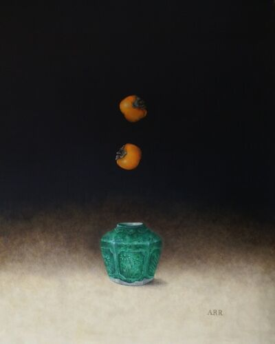 Alison Rankin, 'Green Ginger Jar with Two Falling Persimmon', 2020
