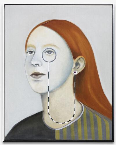 Matthias Bitzer, 'Mädchen mit Monokel (Kater)', 2019
