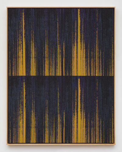 Mika Tajima, 'Negative Entropy (Stripe International Inc., Accounting Department, Purple, Orange, Double)', 2019