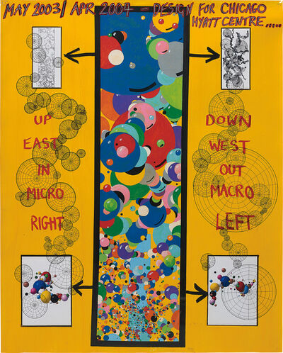Keith Tyson, 'Studio Wall Drawing: MAY 2003/ APR 2004 - Designs for Chicago Hyatt Centre', 2005