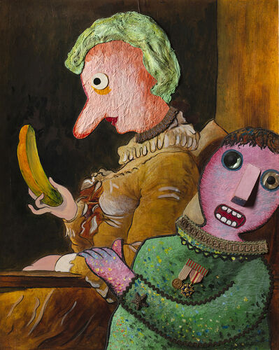Enrico Baj, 'Jeune fille lisant', 1972