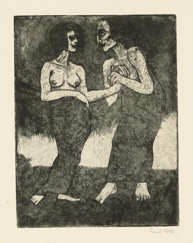 Emil Nolde, 'Mann und Mädchen', 1918