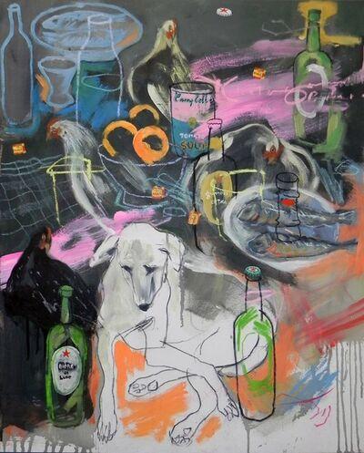 Gopal Dagnogo, 'Intérieur au chien blanc n_1', 2017