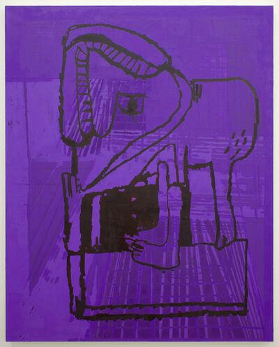 EJ Hauser, 'purple beast', 2017