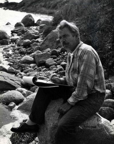 Alfred Eisenstaedt, 'Thomas Hart Benton sketching', 1955