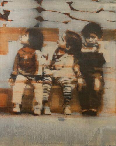 Mark Horst, 'Children Sitting on the Curb #2'