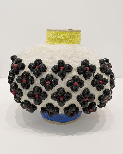 Judy Ledgerwood, 'Oval with Black Flowers', 2020