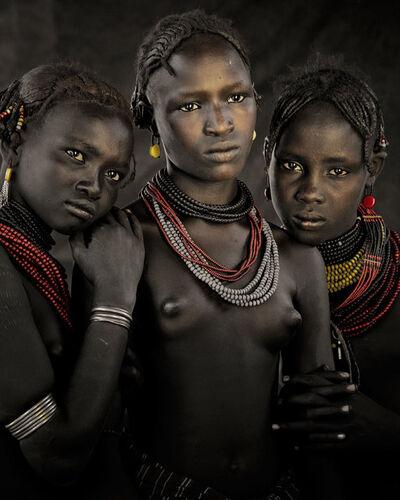 Jimmy Nelson, 'XIV 396 Bodita, Arboshash & Nirjuda, Dassanech Tribe Omorate Village, Southern Omo Ethiopia - Dassanech, Ethiopia', 2011
