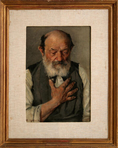 MATO CELESTIN MEDOVIĆ, 'Portrait of an Old Man', 1890