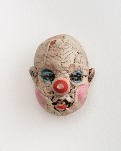 Tom Bartel, 'Medium Doll Head, Red and Pink Striped Nose', 2018