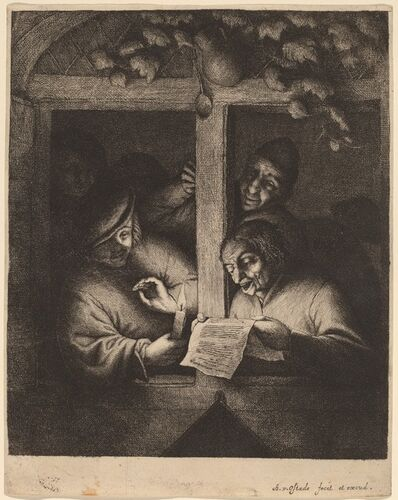 Adriaen van Ostade, 'The Singers', probably 1667