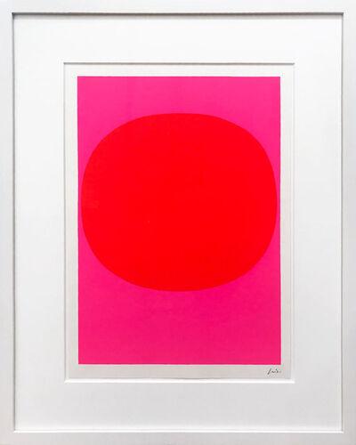 Rupprecht Geiger, 'Variation Runde Farbe III - Leuchtrot auf Pink', 1968