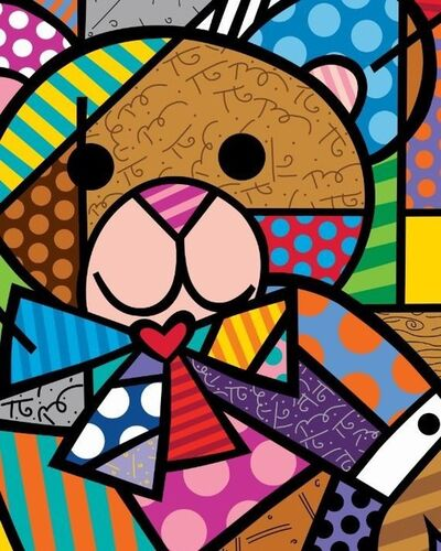Romero Britto, ' Hug Bear (Ed No.003)', 2020