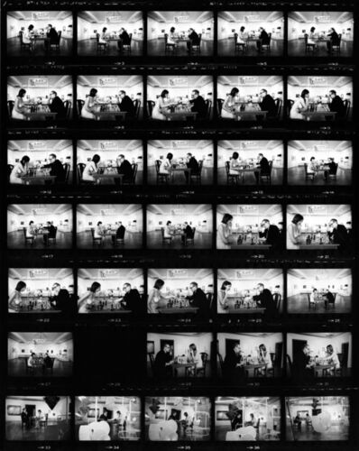 Julian Wasser, 'Marcel Duchamp Playing Chess with a Nude Eve Babitz (Contact Sheet)', 1963
