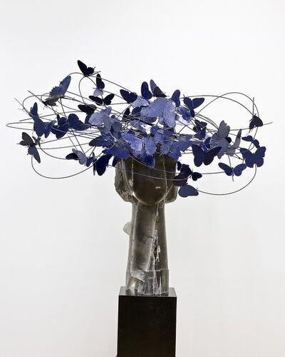 Manolo Valdés, 'Cabeza con Mariposas Azules', 2019