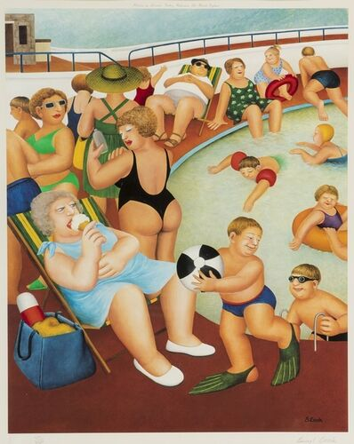 Beryl Cook, 'The Bathing Pool', 1992