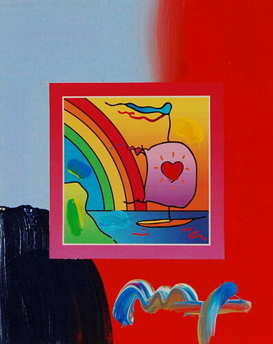 Peter Max, 'Sailboat with Heart on Blends (Ref. # 1283)', 2007