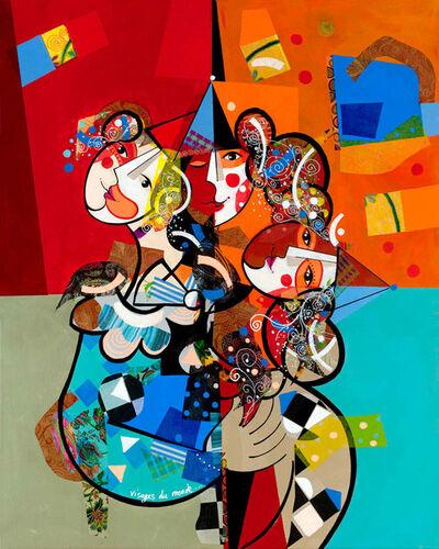 Yoël Benharrouche, 'Visages Du Monde (Lacquer)', 2015