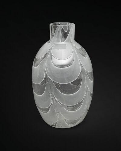Ercole Barovier, 'A glass vase 'Graffito diafano bianco'', 1960