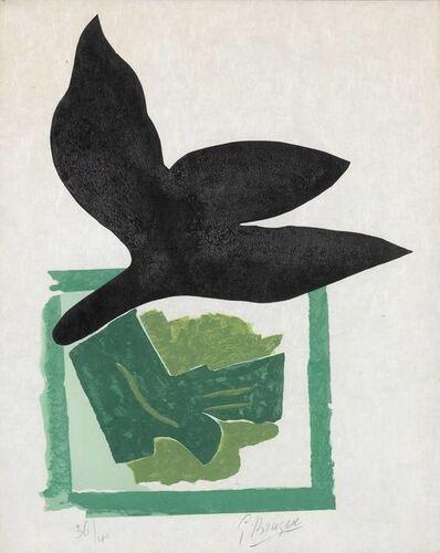 Georges Braque, 'Oiseau Noir Sur Fond Vert (V. 181)', 1962