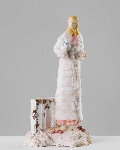 Linda Marrinon, 'Woman with white dog', 2020