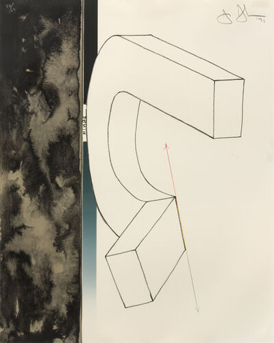 "Jasper Johns, 'Bent ""U"" (from Fragment-According to What)', 1971"