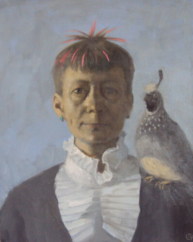 Olga Antonova, 'Self Portrait with bird', 2016