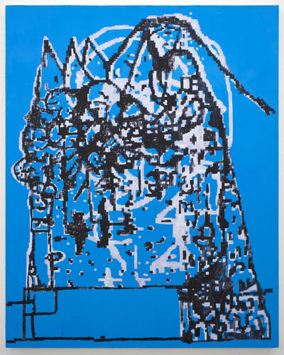 EJ Hauser, 'mountain dwellers (blue)', 2017