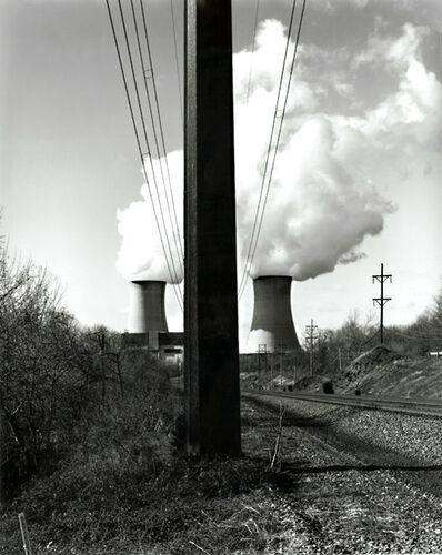 Timothy Rice, 'Limerick #27, Tracks, Power Lines & Cooling Towers, Linfield, PA', 1996