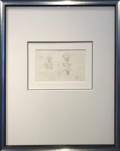 Elizabeth Durack, 'Child and Puppies', 1948