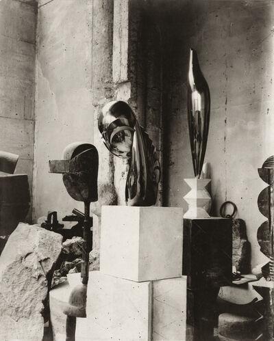Constantin Brâncuși, 'View of the studio: Plato, Mademoiselle Pogany II, and Golden Bird', ca. 1920