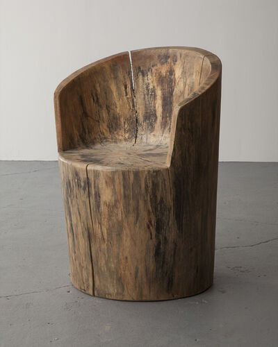 José Zanine Caldas, 'Sculpted solid wood chair', 1970s