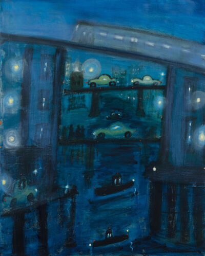 Kathryn Lynch, 'Gowanus Canal in Blue', 2020