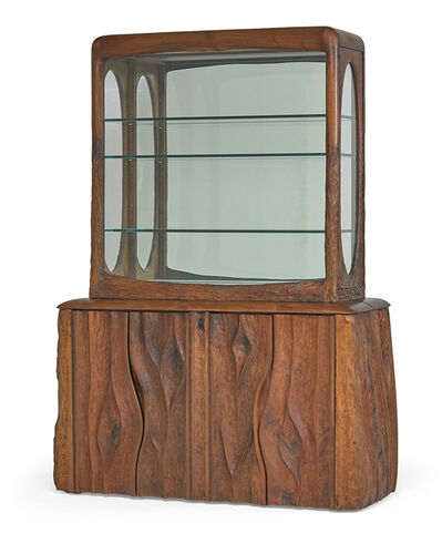 Phil Powell, 'Exceptional bench-made two-piece display cabinet with illuminated vitrine, New Hope, PA', 1970s