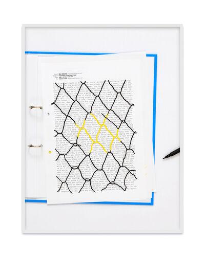 Natalie Czech, 'A negative calligramme by Shiv Kotecha (Fence)', 2019