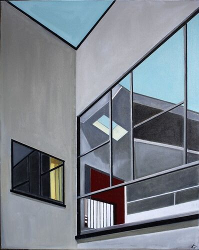 Karen Lynn, ''Window Angles' Oil on Canvas Painting', 2019