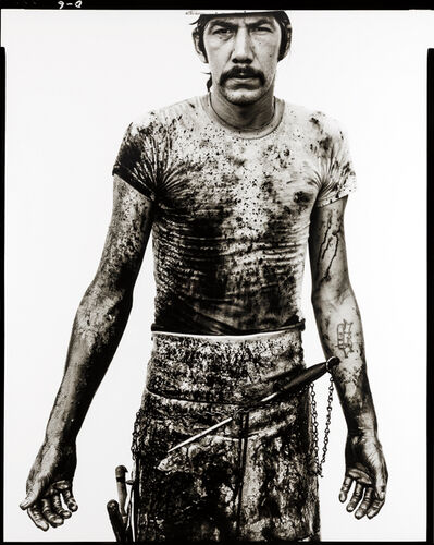 Richard Avedon, 'Blue Cloud Wright, slaughterhouse worker, Omaha, Nebraska, August 10, 1979', 1979