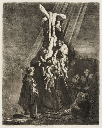 Rembrandt van Rijn, 'The Descent from the Cross: the Second Plate', 1633