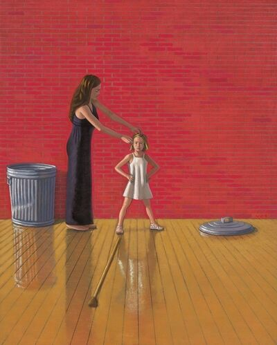 Vonn Cummings Sumner, 'Mother and Child with Trash Can', 2015