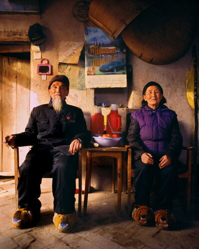 Jiang Jian 姜健, 'Seventy-Four year-old Zheng Hailin and his 69 year-old wife LiXiuying, Xinzhai Village, Yangzhuang Township of Baofeng County', 1997