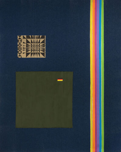 Josephine Meckseper, 'Denim Rainbow I', 2003