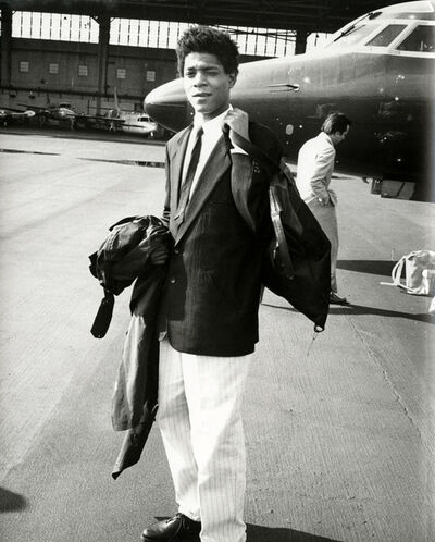 Andy Warhol, 'Andy Warhol, Photograph of Jean-Michel Basquiat Boarding a Private Jet, 1983', 1983