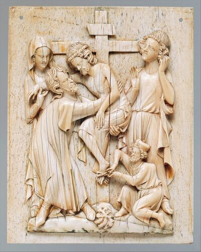 Unknown French, 'Plaque with the Descent from the Cross', ca. 1320–1340
