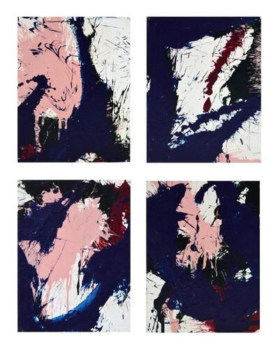 Norman Bluhm, 'Compositions in blue and pink (a set of four works)', 1967