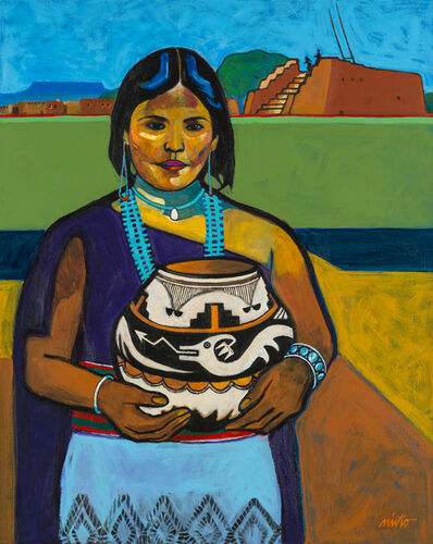 John Nieto, 'Pueblo Lady with Pot', 2016