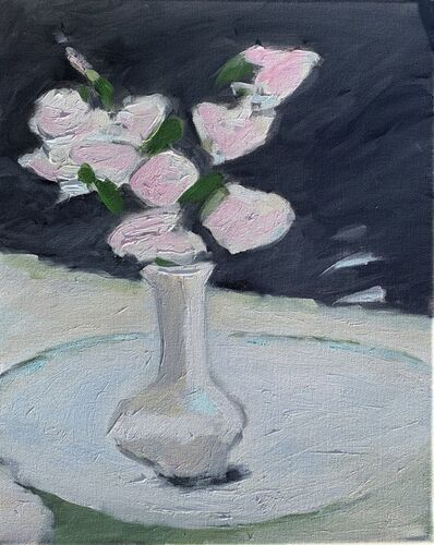 Maureen Chatfield, 'Black and White Floral  (Pink Roses)', 2019